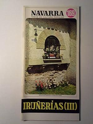 IRUÑERIAS (III). Navarra Temas De Cultura Popular Nº 169.: Iruña, Premin De.