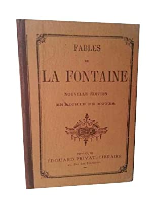 Fables De La Fontaine. Nouvelle Edition. Enrichie De Notes.