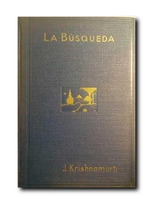 LA BUSQUEDA (POEMA).: Krishnamurti, Jiddu.