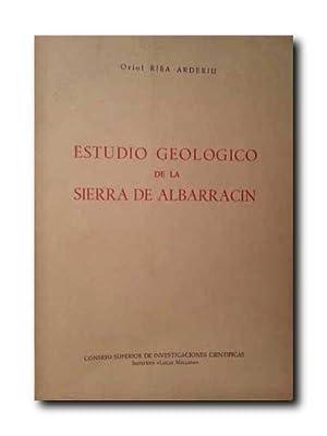 Estudio Geologico De La Sierra De Albarracin .: Riba Arderiu, Oriol .