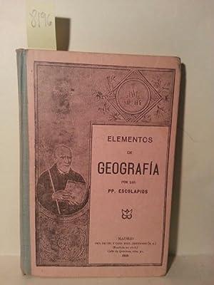 ELEMENTOS DE GEOGRAFIA POR LOS PP. ESCOLAPIOS. Septima Edicion.: Geografia - Educacion.
