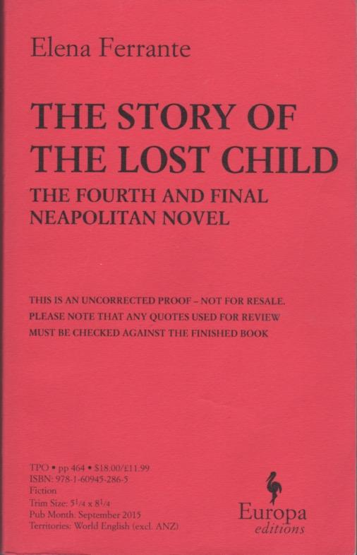 THE STORY OF THE LOST CHILD. Book Four, The ...