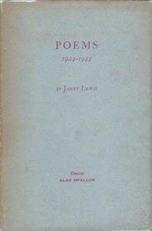 POEMS 1924-1944.: Lewis, Janet.
