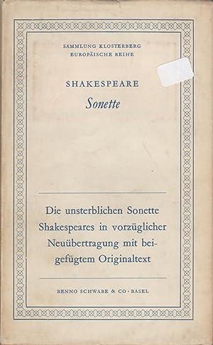 SHAKESPEARE SONETTE: Shakespeare, William. Translated by Ilsa Kramer.