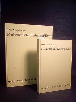 Mathematische Keilschrift-Texte. Herausgegeben und bearbeitet von O.: Neugebauer, Otto: