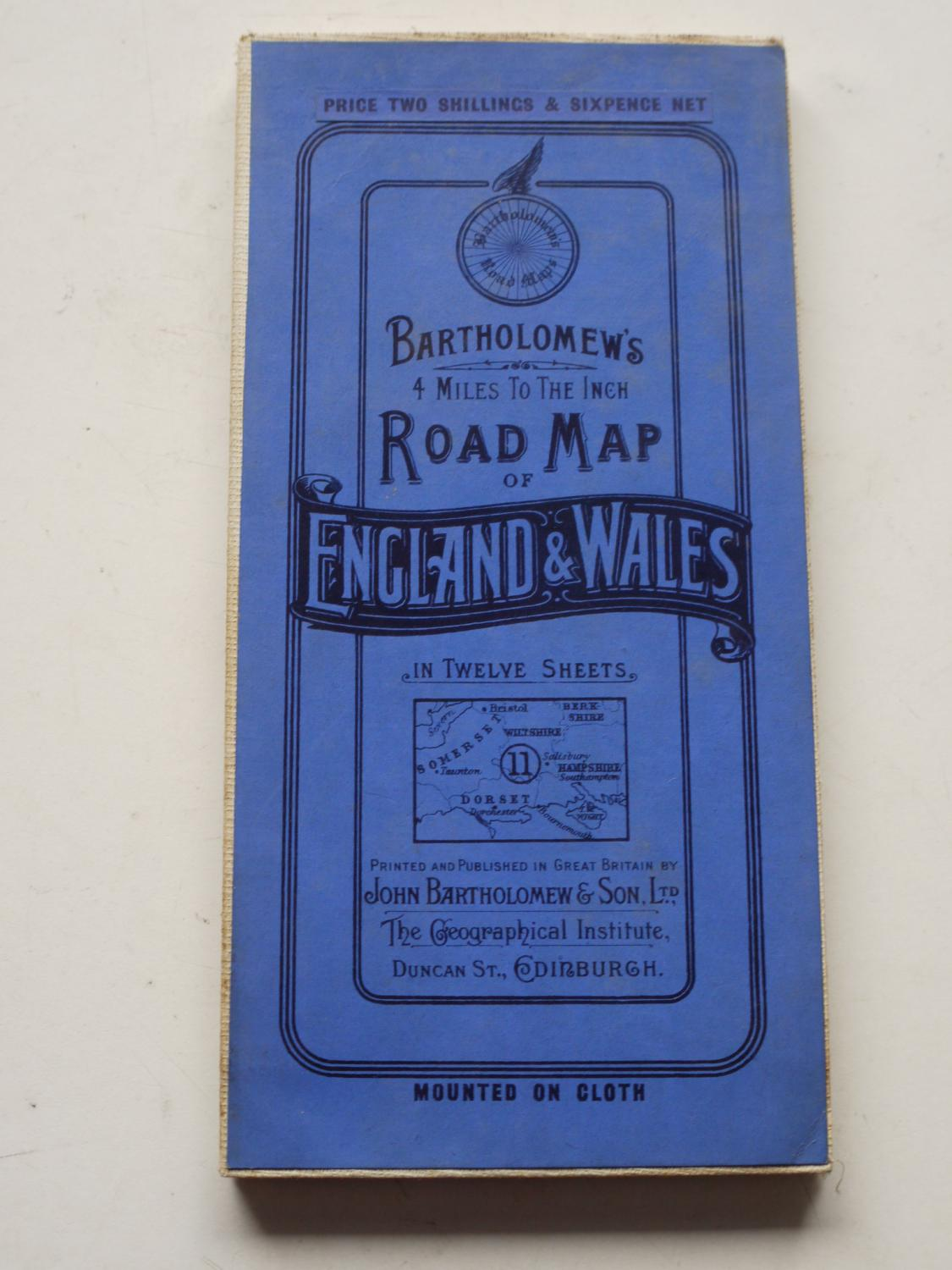 Driving Map Of England And Wales.Bartholomew S Road Map Of England Wales