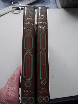 THE DECAMERON OF GIOVANNI BOCCACCIO. 2 Volumes: BOCCACCIO