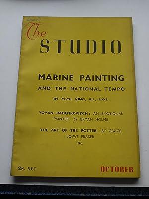 THE STUDIO. October 1941 vol 122, no: Geoffrey Holme, editor