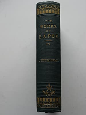 THE WORKS OF E.A.POE. Volume IV, Auutography, Criticisms and Index, ** uncut Pages **: EDGAR ALLAN ...
