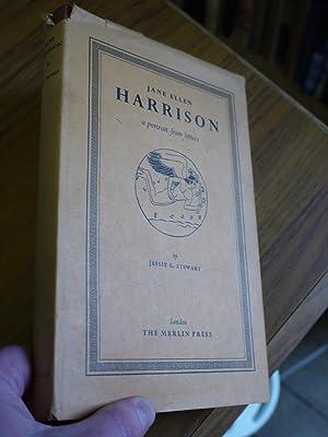 JANE ELLEN HARRISON. a portrait of letters.: JESSIE G. STEWART.