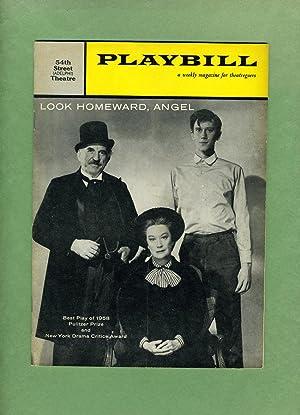 LOOK HOMEWARD, ANGEL: Playbill: March 16, 1959,: Kermit Bloomgarden and