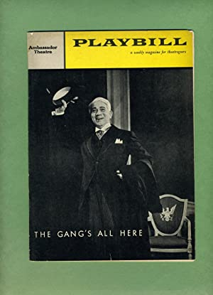 THE GANG'S ALL HERE: Playbill: March 16, 1959, Volume 3, Number 11.: Kermit Bloomgarden and ...