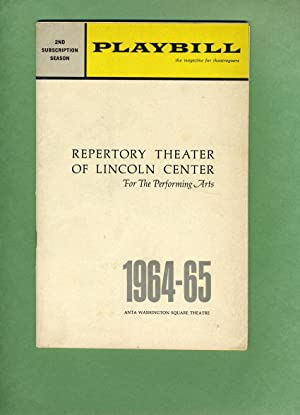 INCIDENT AT VICHY -- REPERTORY THEATER OF LINCOLN CENTER FOR THE PERFORMING ARTS 1964-65; 2nd ...