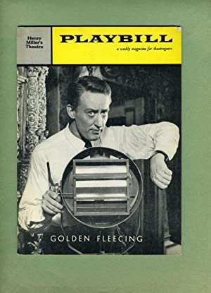 GOLDEN FLEECING -- Playbill -- Volume 3, October 12, 1959, Number 41 -- with SUZANNE PLESHETTE.: ...