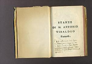 Stanze di M. Antonio Tibaldeo Ferrarese: Antonio Tibaldeo