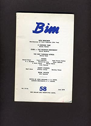 BIM: Vol (Volume) 15, No. (Number) 58: June 1975: E. L. Cozier, A. N. Forde, John Wickham & L. ...