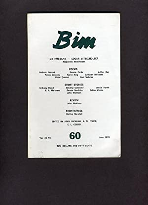 BIM: Vol (Volume) 15, No. (Number) 60: June 1976: John Wickham, A. N. Forde, E. L. Cozier, editors;...