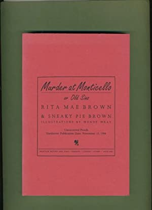 Murder At Monticello: Rita Mae Brown & Sneaky Pie Brown