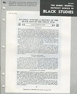 An Essay Toward a History of the Black Man in the Great War (Bobbs-Merrill Reprint Series in Black ...