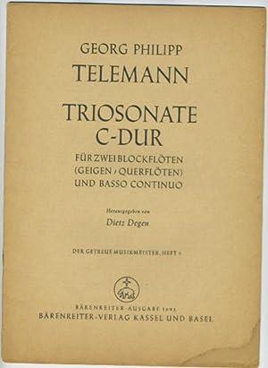 Triosonate C-Dur fur Zwei Blockfloten (Geigen, Querfloten) und Basso Continuo: Georg Philipp ...