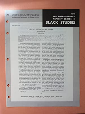URBANIZATION AMONG THE YORUBA (Bobbs-Merrill Reprint Series in Black Studies: BC-18): William ...