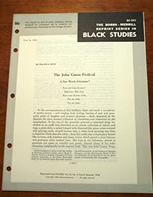 THE JOHN CANOE FESTIVAL: A NEW WORLD AFRICANISM (Bobbs-Merrill Reprint Series in Black Studies: BC-...