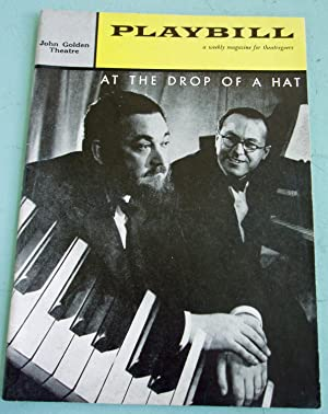 At The Drop Of A Hat PLAYBILL PROGRAM: John Golden Theatre with MICHAEL FLANDERS & DONALD SWANN...