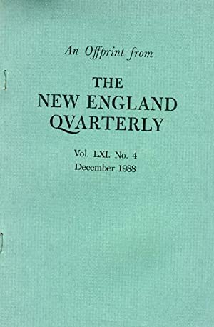 Sojourner Truth and President Lincoln: An Offprint from The New England Quarterly Vol LXI. No. 4, ...
