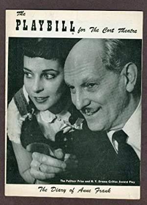 The Diary of Anne Frank PLAYBILL PROGRAM: Anne Frank, Frances