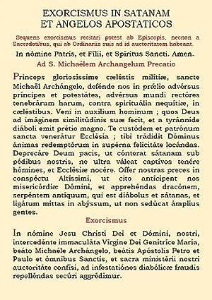 Exorcismus in Satanam et Angelos Apostaticos