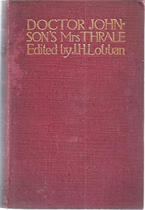 DR. JOHNSON'S MRS. THRALE: Hayward, A.