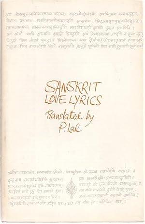 SANSKRIT LOVE LYRICS: Lal, P.