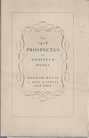 THE 1928 PROSPECTUS OF NONESUCH BOOKS: Nonesuch Press]