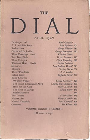 THE DIAL. Volume LXXII, Number 4. April 1927: Thayer, Scofield