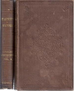 LITERARY REMINISCENCES: de Quincey, Thomas