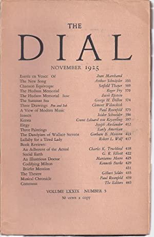 THE DIAL Volume LXXIX, Number 5. November 1925: Thayer, Scofield