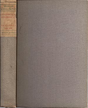 GOVERNMENT OF DEPENDENCIES: Lewis, Sir George Cornewall