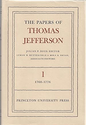 THE PAPERS OF THOMAS JEFFERSON: Boyd, Julian