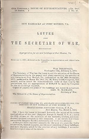LETTER FROM THE SECRETARY OF WAR, RECOMMENDING APPROPRIATION FOR SIX