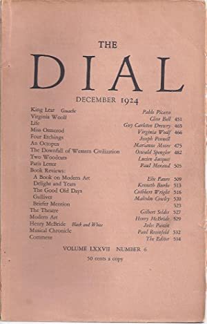 THE DIAL Volume LXXVII, Number 6, December 1924: Thayer, Scofield, ed.