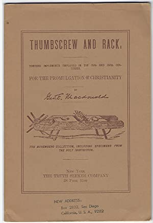 THUMBSCREW AND RACK: Macdonald, Geo. B.