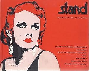 STAND; QUARTERLY OF THE ARTS. No. 1, 1968: Silkin, Jon