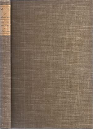 """M.E.S."""" IN MEMORIAM: A TRIBUTE TO THE LIFE AND ACCOMPLISHMENTS OF MELVILLE E. STONE 1848-1929"""
