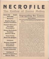 Necrofile: The Review Of Horror Fiction no: NECROFILE, (ed. Stefan