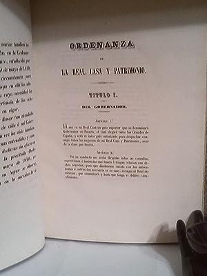 Ordenanza de la Real Casa y Patrimonio espedida en 23 de marzo de 1848