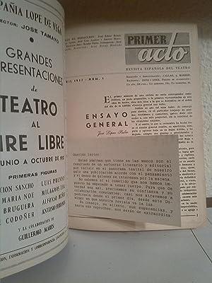 Primer acto, revista del teatro, número 1: Varios