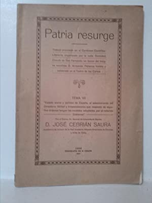 Patria resurge: José Cebrian Saura