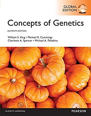 Concepts of Genetics (11th Edition): Klug, William S.;
