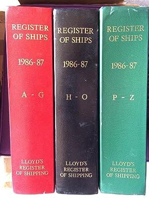 Lloyd's Register of Shipping 1986-87 3 Volumes: Lloyd's