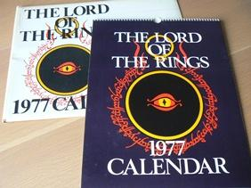 Lord of the Rings 1977 Calendar ,: Tolkien, J.R.R.